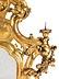 Detail images:  Großer Barockspiegel mit Leuchterarmen