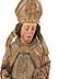 Detail images:  Halbfigur eines heiligen Bischofs
