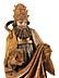 Detail images:  Gotische Schnitzfigur eines heiligen Papstes