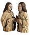Detail images: Zwei Engel (Halbfiguren aus einer Beweinung)