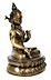 Detail images: Feine feuervergoldete Bronze der Sita Tara (weiße Tara)