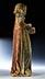 Detail images: Gefasste Steinfigur eines Evangelisten