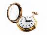Detailabbildung: Feine goldene Stundenrepetitions-Spindeluhr mit Diamantbesatz
