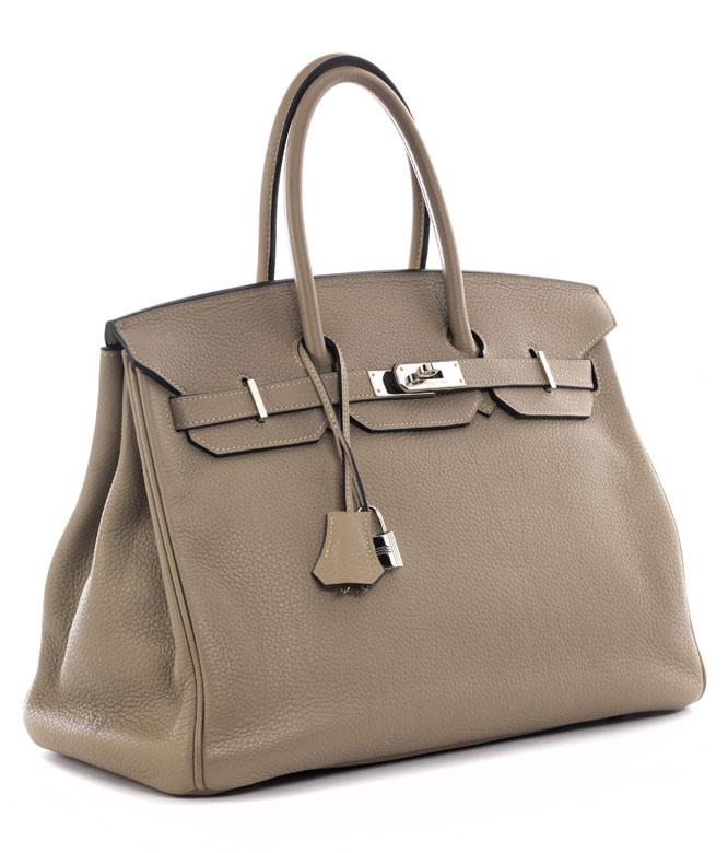 "† Hermès Birkin Bag 35 cm ""Gris Tourterelle"""