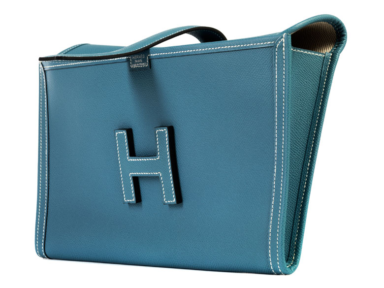 "Hermès Jige Clutch ""Jeansblau"""