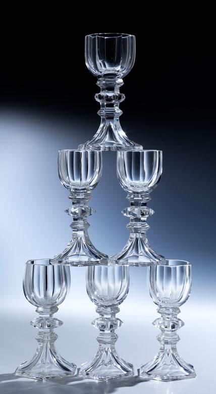 Sechs Gläser aus dem bayerischen Königshaus