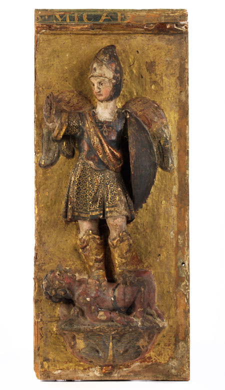 "Spanisches Relief ""Heiliger Michael"""