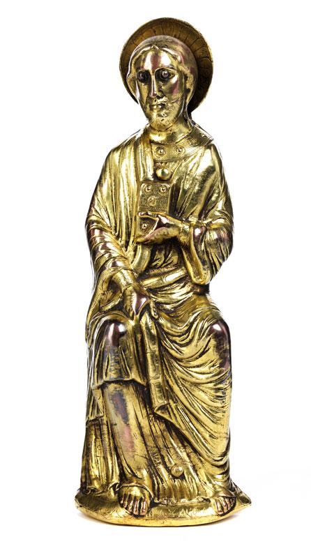 Hochrelief mit Christus im romanischen Stil