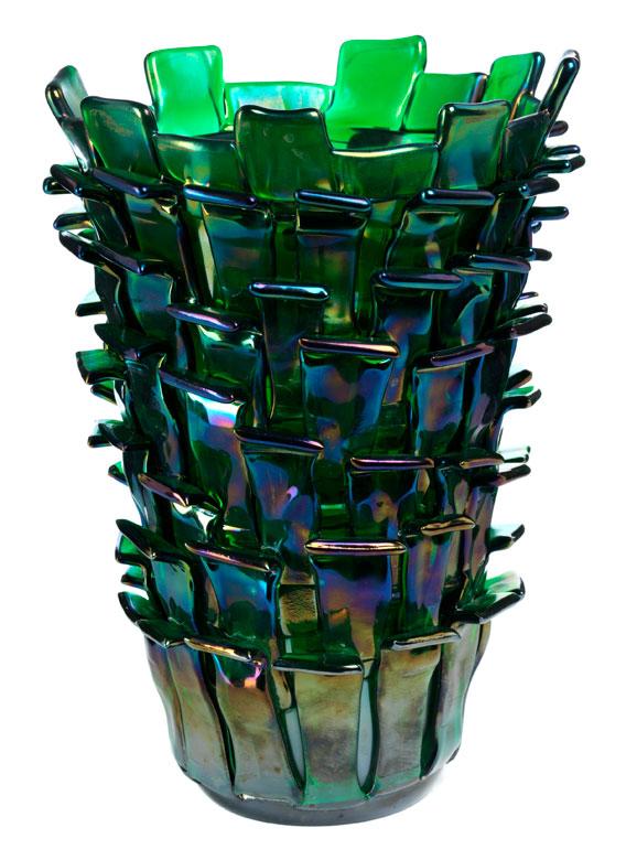 Extravagante große Vase von Fulvio Bianconi für Venini