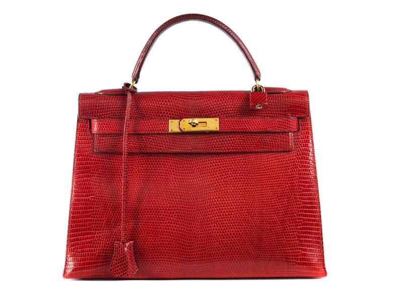 """Hermès Kelly Bag Echse """"Rouge"""""""