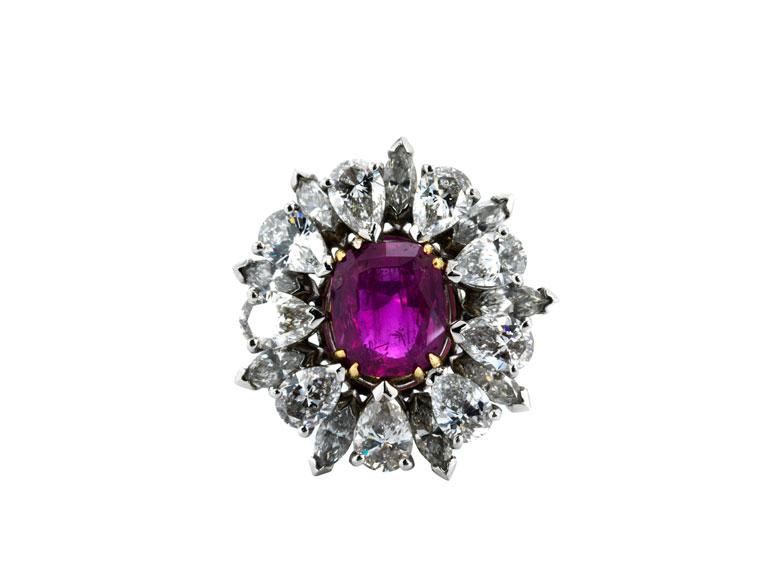 Diamant-Rubinring