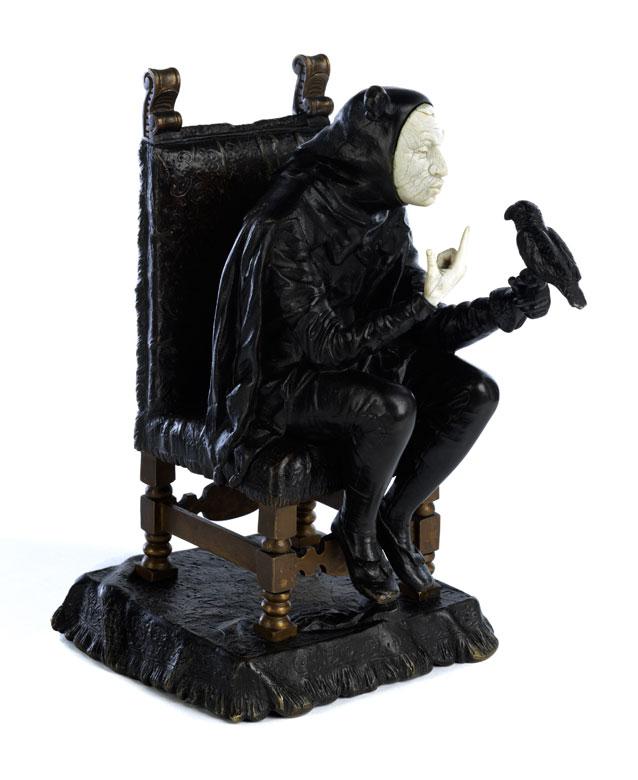 Bronzefigur eines Harlekin