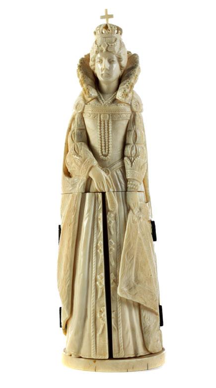 Elfenbeinfigur von Elisabeth I Königin von England