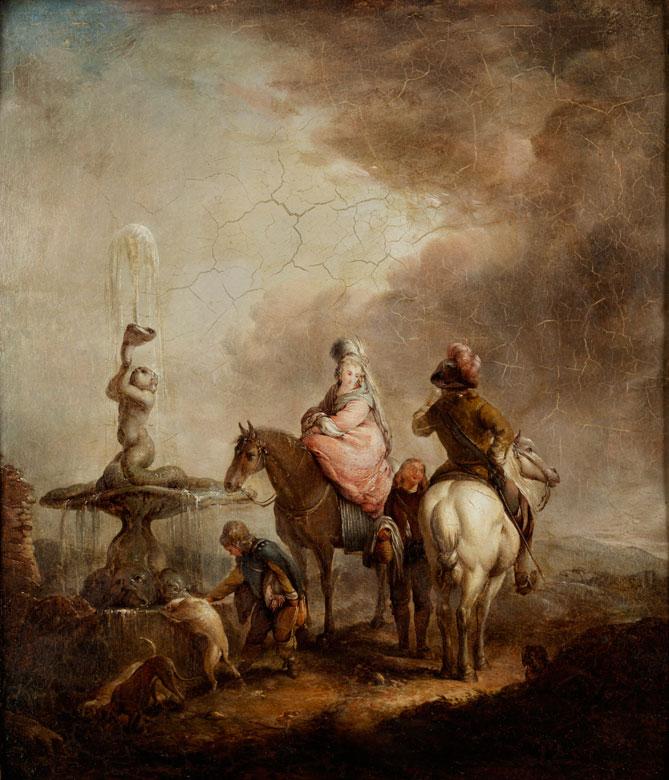 Französischer Maler des 18. Jahrhunderts in der Thementradition des Holländers