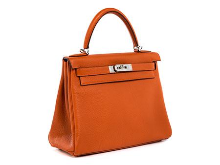 "Hermès Kelly Bag 28 cm ""Orange"""