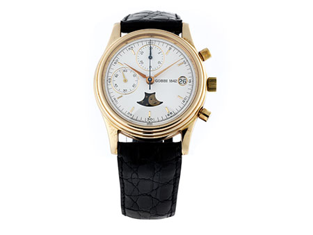 GOBBI Kalender-Chronograph in Gold