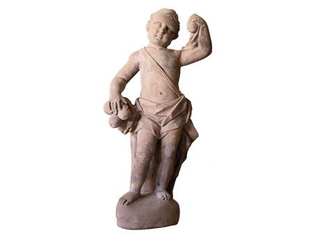 Sandsteinskulptur eines Putto, Johann Franz van Helmont, gest. 1756, zug.