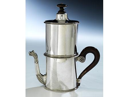 Silberner Kaffeeautomat aus Wien