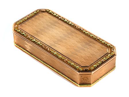 Elegante Gold-Tabatière