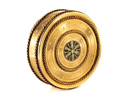Elegante runde Gold-Tabatière