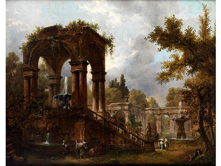 Hubert Robert, 1733 Paris – 1808 ebenda, zug.