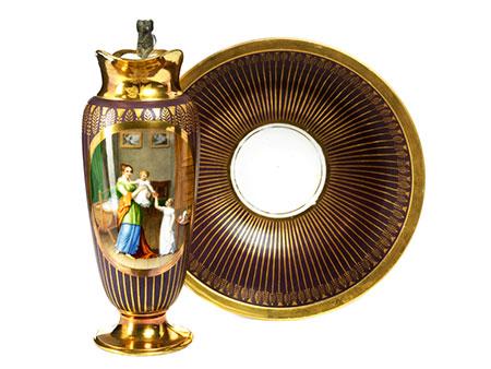 Lavabogarnitur in Porzellan im klassizistischen Stil