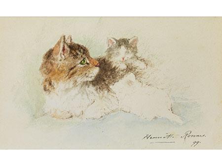 Henriette Ronner-Knip, 1821 Amsterdam – 1909 Brüssel