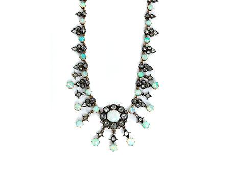 Detail images:  Opal-Diamantcollier