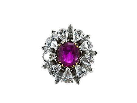 Detail images:  Diamant-Rubinring