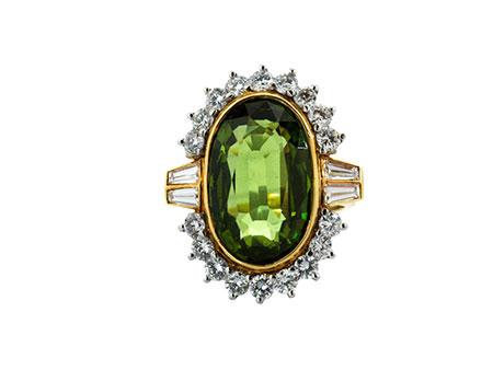 Detail images:  Peridot-Diamantring