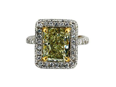 Detail images:  Fancy Yellow Diamantring