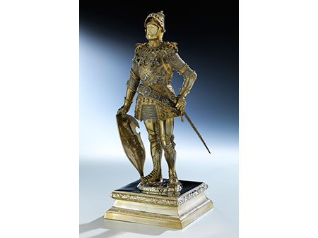 Silberfigur des König Arthur