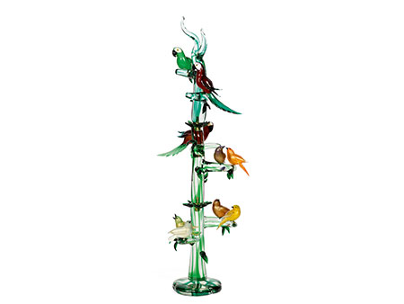 Skulptur Modern muranoglas skulptur papageien und vögel hel auctions
