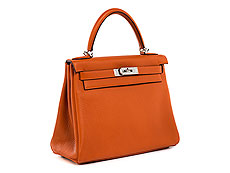"Hermès Kelly Bag 28 cm ""Orange"""