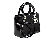 "Christian Dior Tasche ""Lady Dior"" Brombeer"