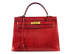 "Hermès Kelly Bag Echse ""Rouge"""
