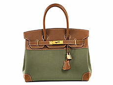 "Hermès Birkin Bag ""Canvas and Leather"""