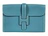 """Detail images: Hermès Jige Clutch """"Jeansblau"""""""