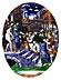 Detail images: Paar ovale Limoges-Emailbildplatten