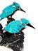 Detail images: Tischskulptur mit zwei Eisvögeln
