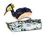 Detail images: Kleine Tischskulptur eines Haubentauchers