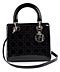 "Detail images: Christian Dior Tasche ""Lady Dior"" Brombeer"