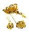 Detail images: Gold-Diamant-Rosenbrosche und -ohrringe