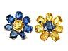 Detail images: Prächtiges gelb-blaues Saphir-Set