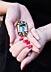 Detail images: Aquamarin-Diamantbrosche von Boucheron