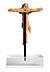 Detail images: Kleines in Bein geschnitztes romanisches Kreuz mit Corpus Christi
