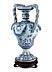 Detail images: Große Fayence-Vase