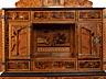 Detail images: Augsburger Intarsienkabinettschrank
