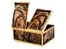 Detail images: Elegante Gold-/ Achat-Tabatière