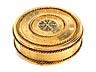 Detail images: Elegante runde Gold-Tabatière